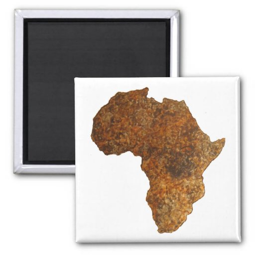 Imanes africanos del regalo de II_Art del mapa de  Imanes De Nevera