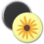 Imanes amarillos de la pintura del girasol imán redondo 5 cm