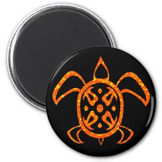 Imanes anaranjados de la tortuga imán para frigorifico
