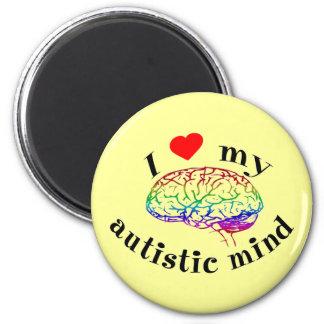 Imanes autísticos de la mente imán redondo 5 cm