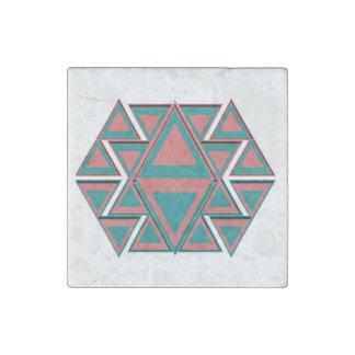 Imanes aztecas tribales 2x2 del mármol de la imán de piedra