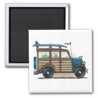 Imanes azules del carro de Woody Imanes