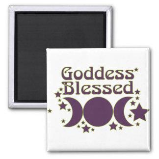 Imanes bendecidos diosa imán cuadrado