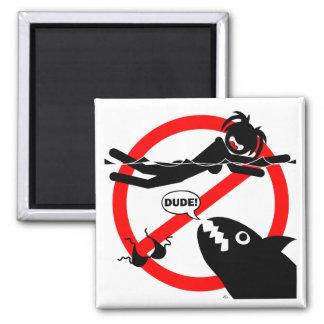 Imanes, botones y más del peligro de la natación imán cuadrado