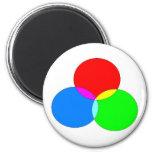 Imanes con el diseño de tres colores imanes para frigoríficos