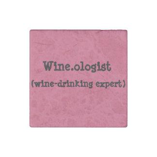 Imanes con humor de Vino-consumición Imán De Piedra