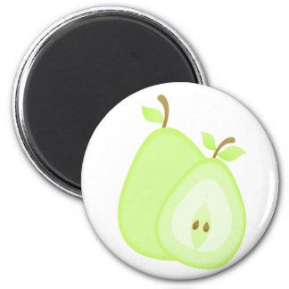 Imanes con sabor a fruta de la pera imán redondo 5 cm