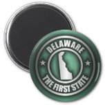 """Imanes de acero de """"Delaware"""" (verde) Imán De Frigorifico"""