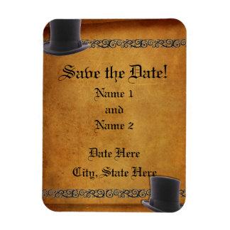 Imanes de encargo de la Reserva--Fecha del boda ga