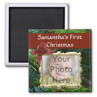 Imanes de encargo del navidad de la foto imanes