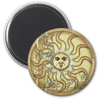 Imanes de estilo celta del diseño de Litha Sun Imán Redondo 5 Cm