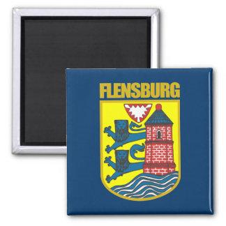 """Imanes de """"Flensburg"""" Imán Cuadrado"""