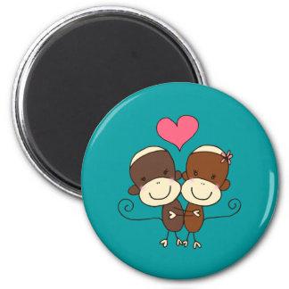 Imanes de Hugz del mono del calcetín Imán Redondo 5 Cm