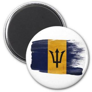Imanes de la bandera de Barbados Imán Redondo 5 Cm