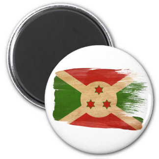 Imanes de la bandera de Burundi Imán Redondo 5 Cm
