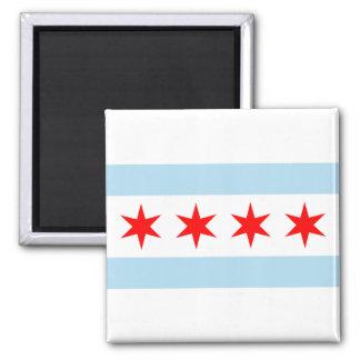 Imanes de la bandera de Chicago Imán De Nevera