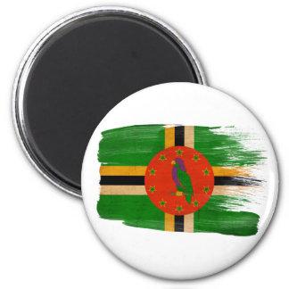 Imanes de la bandera de Dominica Imán Redondo 5 Cm