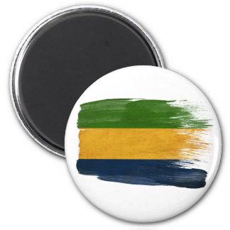Imanes de la bandera de Gabón Imán Redondo 5 Cm