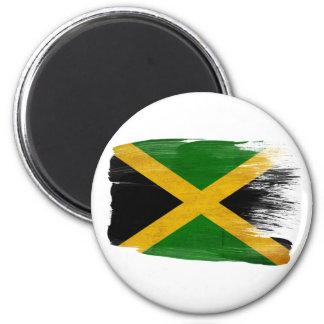 Imanes de la bandera de Jamaica Imán Redondo 5 Cm