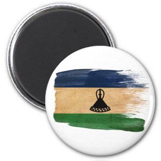 Imanes de la bandera de Lesotho Imán Redondo 5 Cm