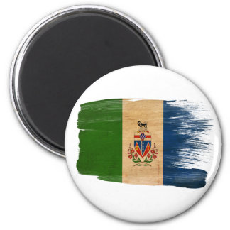 Imanes de la bandera de los territorios del Yukón Imán Redondo 5 Cm
