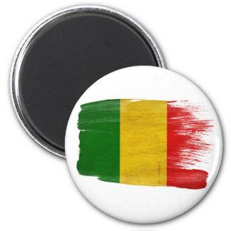 Imanes de la bandera de Malí Imán Redondo 5 Cm