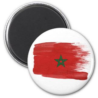 Imanes de la bandera de Marruecos Imán Redondo 5 Cm