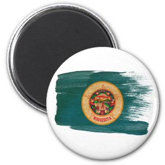 Imanes de la bandera de Minnesota Imán Redondo 5 Cm