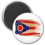 Imanes de la bandera de Ohio Imán Para Frigorífico