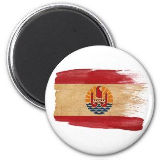 Imanes de la bandera de Polinesia francesa Imán Redondo 5 Cm