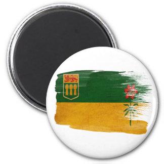 Imanes de la bandera de Saskatchewan Imán Redondo 5 Cm