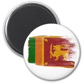 Imanes de la bandera de Sri Lanka Imán Redondo 5 Cm