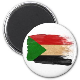 Imanes de la bandera de Sudán Imán Redondo 5 Cm