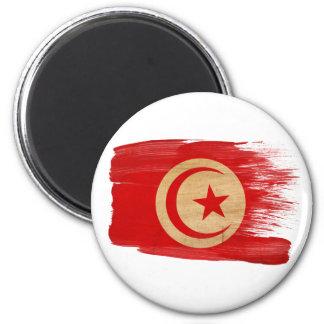 Imanes de la bandera de Túnez Imán Redondo 5 Cm