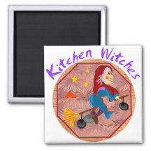 Imanes de la bruja de la cocina iman de frigorífico