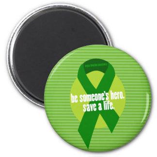 Imanes de la conciencia de la donación de órganos imán redondo 5 cm