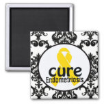 Imanes de la conciencia de la endometriosis imán cuadrado
