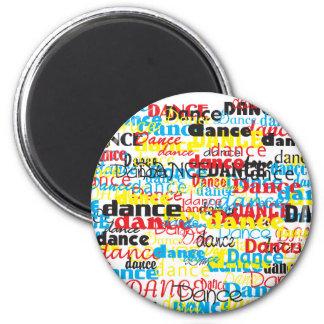 Imanes de la danza imán redondo 5 cm
