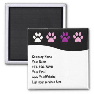 Imanes de la empresa de servicios del mascota imán cuadrado