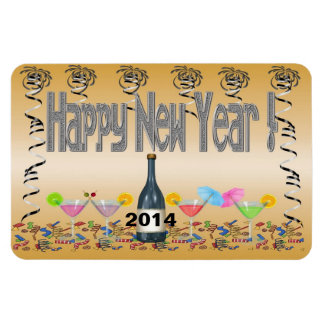 Imanes de la flexión de los cócteles del Año Nuevo