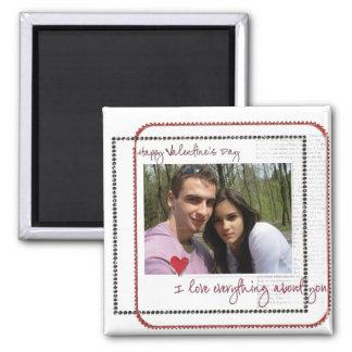 imanes de la foto del día de San Valentín Imán Cuadrado
