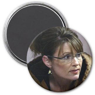 Imanes de la fotografía de Sarah Palin Imán Redondo 7 Cm
