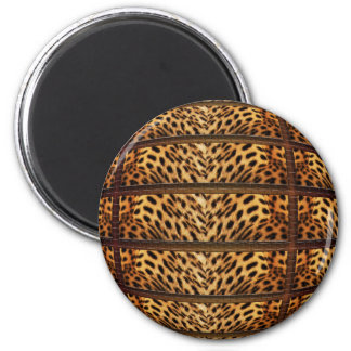 Imanes de la piel del leopardo imán redondo 5 cm
