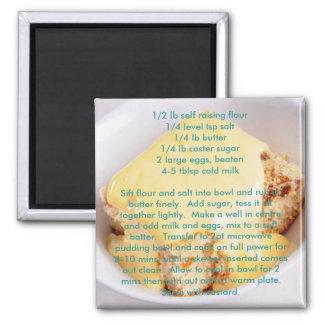 Imanes de la receta - pudín de la esponja de la mi