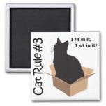 Imanes de la regla #3 del gato imán cuadrado