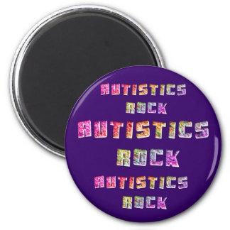Imanes de la roca de Autistics Imán Redondo 5 Cm