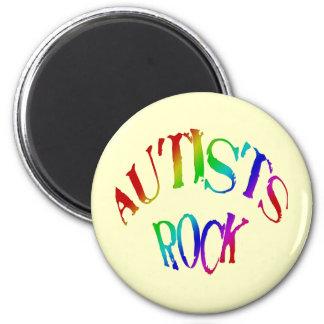 Imanes de la roca de Autists Imán Redondo 5 Cm
