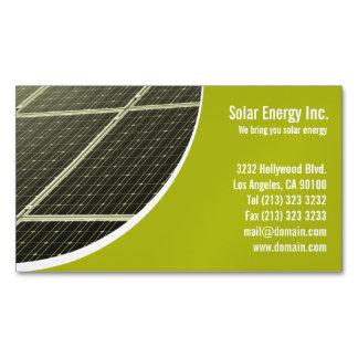 Imanes de la tarjeta de visita del panel solar