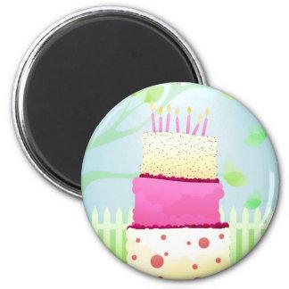 Imanes de la torta de cumpleaños iman de nevera