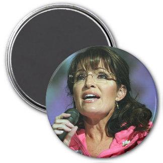 Imanes de las fotos de Sarah Palin Imán Redondo 7 Cm